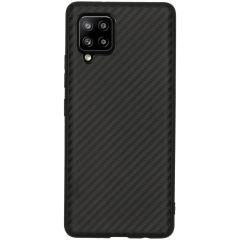 Carbon Softcase Backcover Samsung Galaxy A42 - Zwart