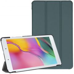 iMoshion Trifold Bookcase Galaxy Tab A 8.0 (2019) - Donkergroen