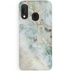 Selencia Maya Fashion Backcover Samsung Galaxy A20e - Marble Blue