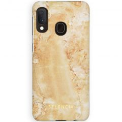 Selencia Maya Fashion Backcover Samsung Galaxy A20e - Marble Sand
