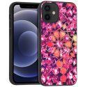 iMoshion Design hoesje iPhone 12 Mini - Grafisch - Roze Bling